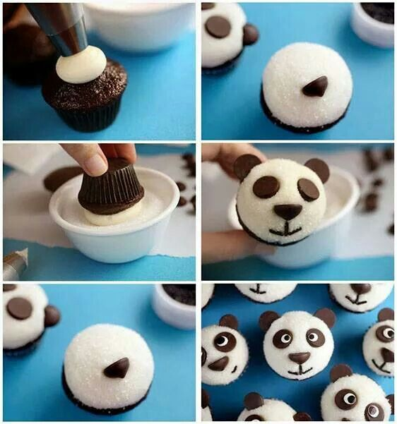 panda muffins mehr kindergarten snack pinterest backen f r kinder und essen f r kinder. Black Bedroom Furniture Sets. Home Design Ideas