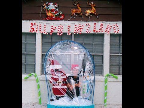 Diy Life Size Snow Globe Christmas Display Photo Booth Diy