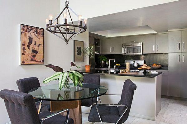 50 Einrichtungsideen für kleine Esszimmer - esszimmer esstisch stühlen küchenarbeitsplatte