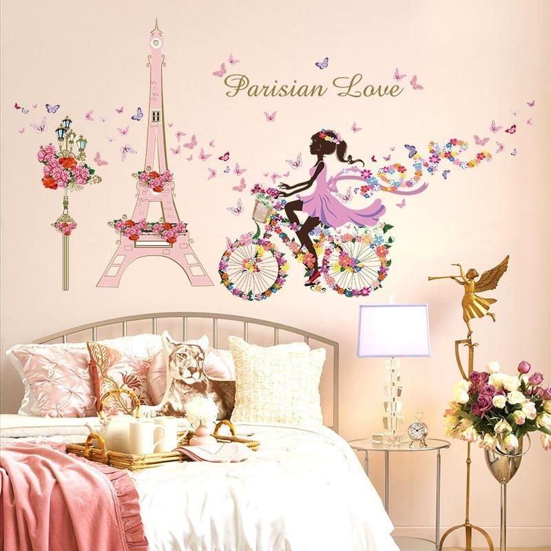 Butterfly Kiss Princess Children/'s Bedroom Room Decal Wall Art Sticker Picture