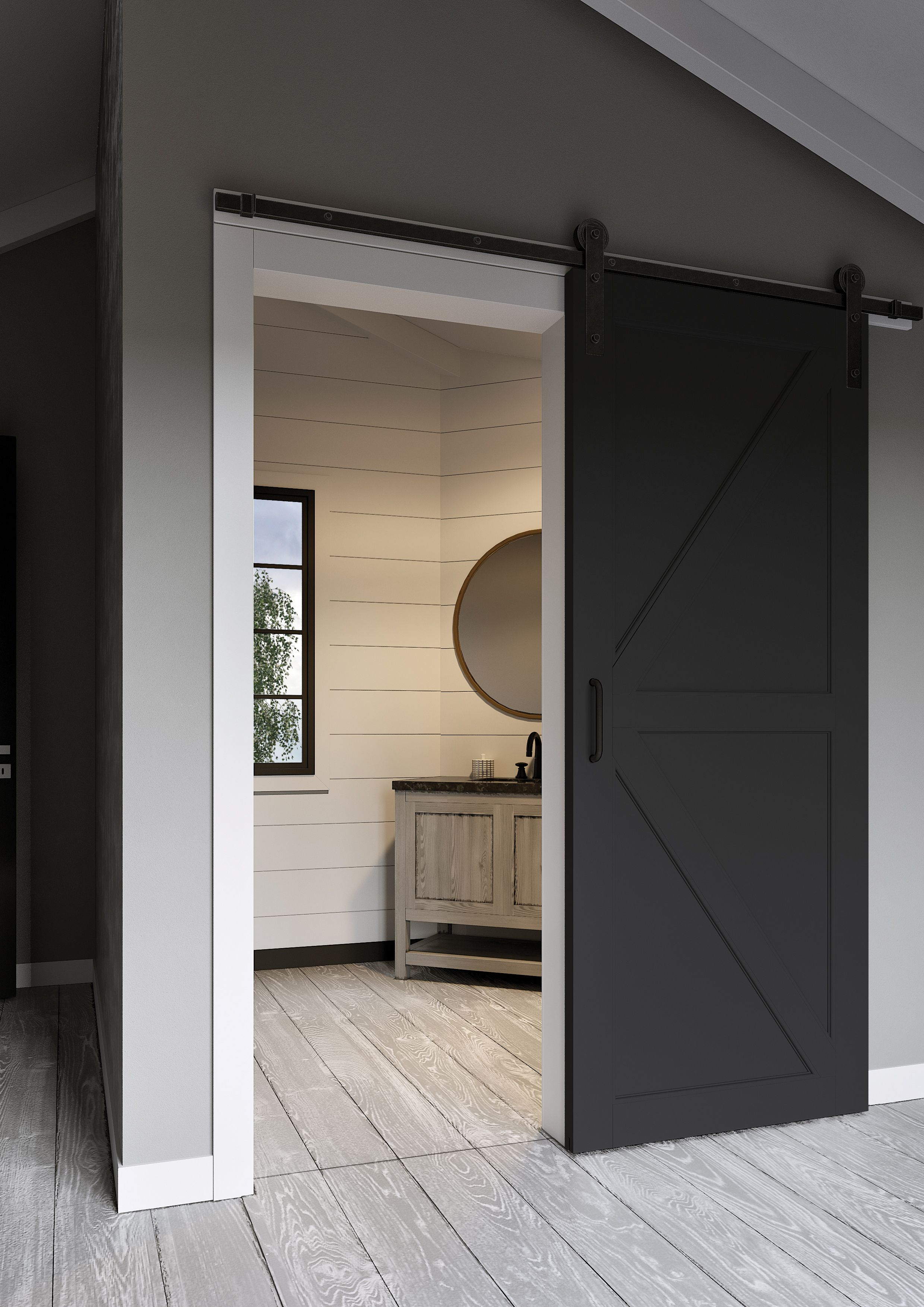 Masonite Jeff Lewis K Bar Knight Barn Door Barn Door Designs Sliding Door Design Modern Barn Door