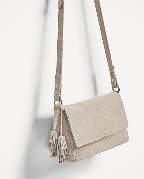 Image 1 of SPLIT SUEDE CROSSBODY BAG from Zara   Tas   Pinterest ... c757aa93f5