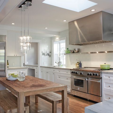 White Shaker Kitchen Cabinets Design Ideas, Pictures, Remodel, and Decor - page 41