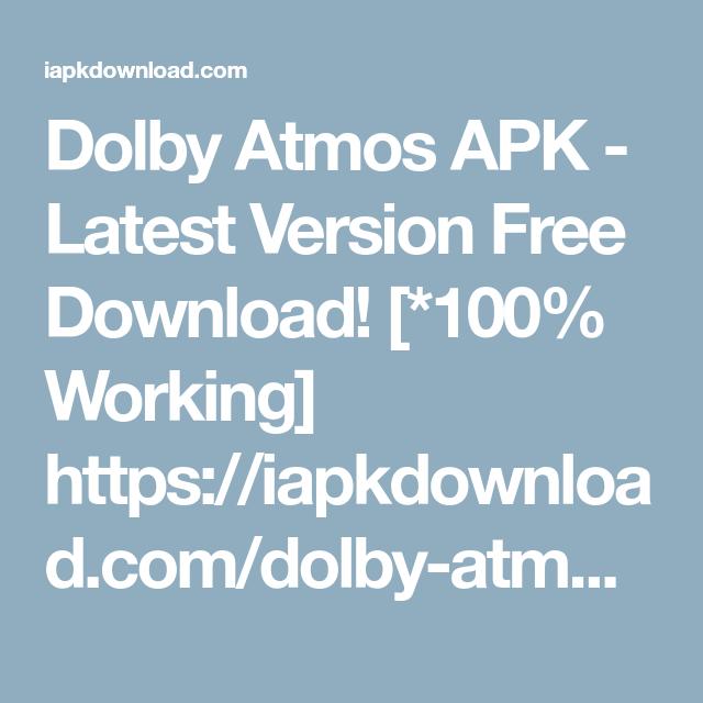 Lenovo Dolby Apk