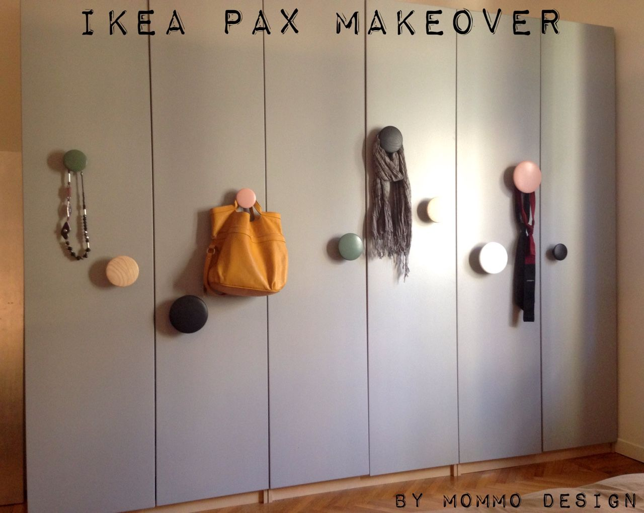 makeover of ikea pax wardrobe with grey paint and muuto dots rh pinterest com