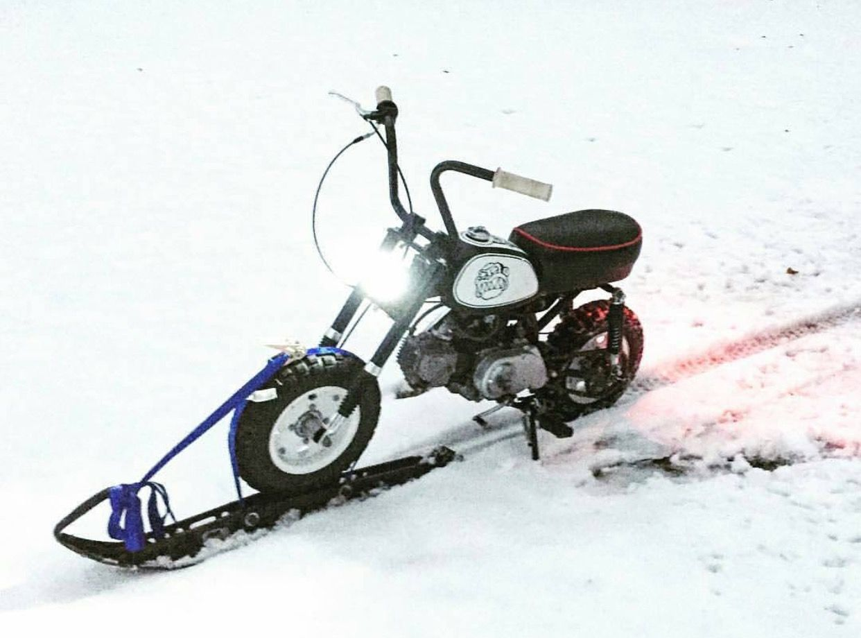 Honda Z50 Monkey Snow Conversion Mini Bike Bike Honda