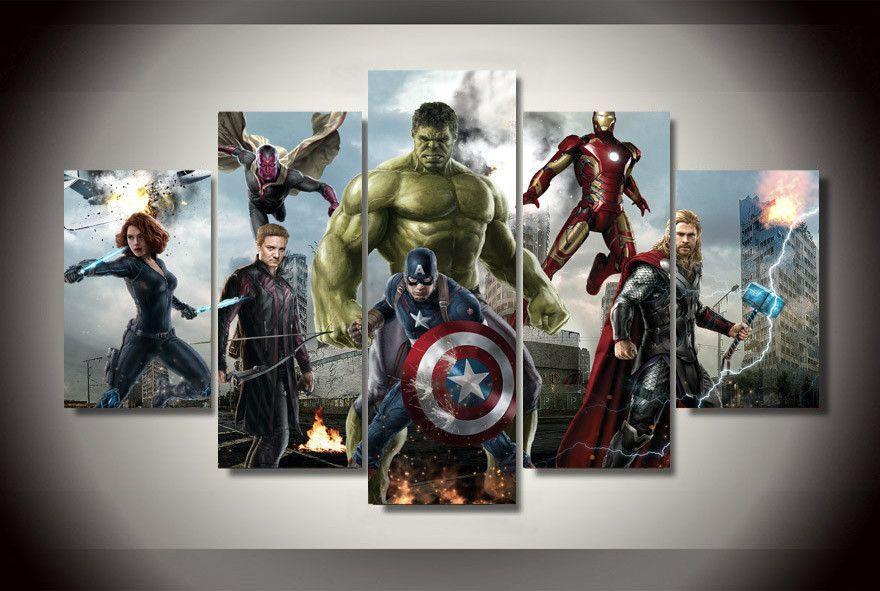 Avengers Canvas Print Wall Art Home Decor Avengers Painting Marvel Canvas Canvas Wall Art Set
