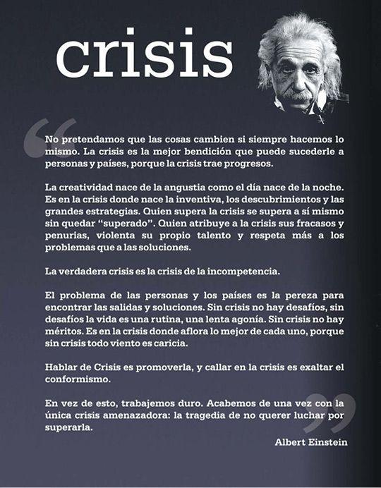 Crisis According To Albert Einstein Es En La Crisi Quan Afloreix