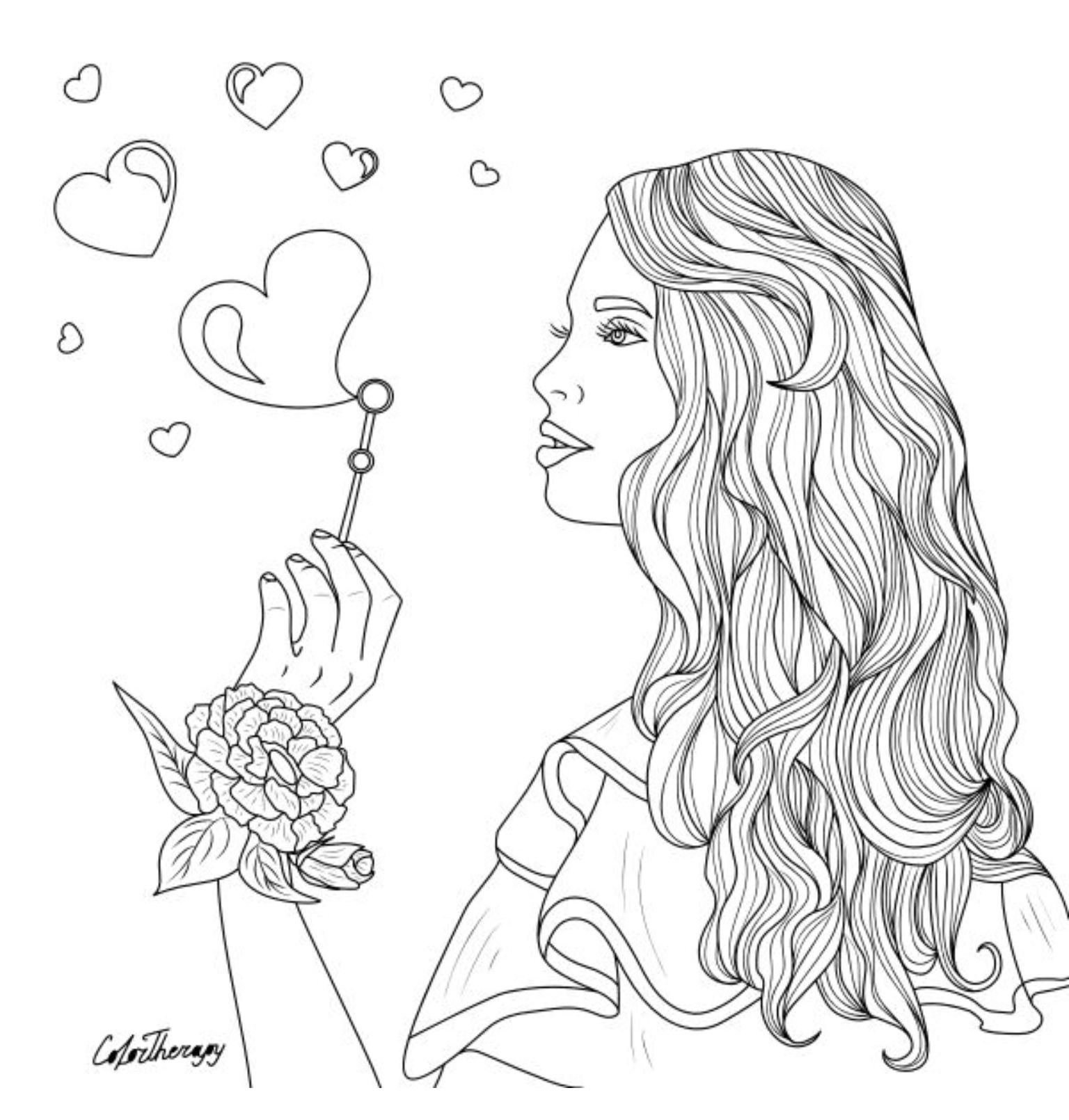 The Sneakpeek For The Next Gift Of The Day Tomorrow Do You Like This One Woman Mak Abstract Coloring Pages Monster Coloring Pages Fairy Coloring Pages