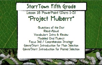 Storytown grade 5 lesson 18 project mulberry weekly powerpoint storytown grade 5 lesson 18 project mulberry weekly powerpoint fandeluxe Image collections