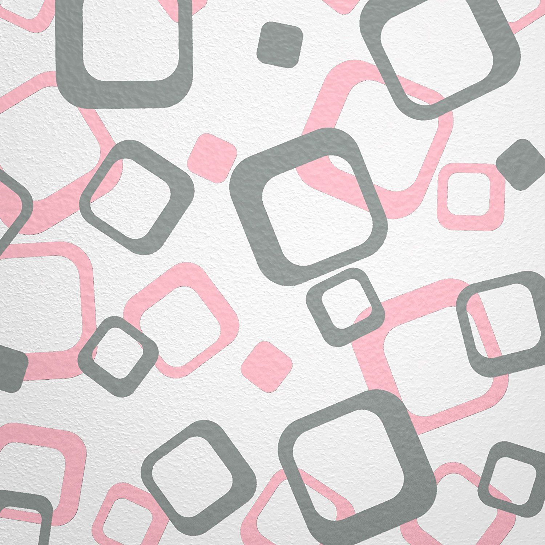 Wandfee Wandtattoo 64 Retro Vierecke Mit Farbwunsch 2farbig Farbe