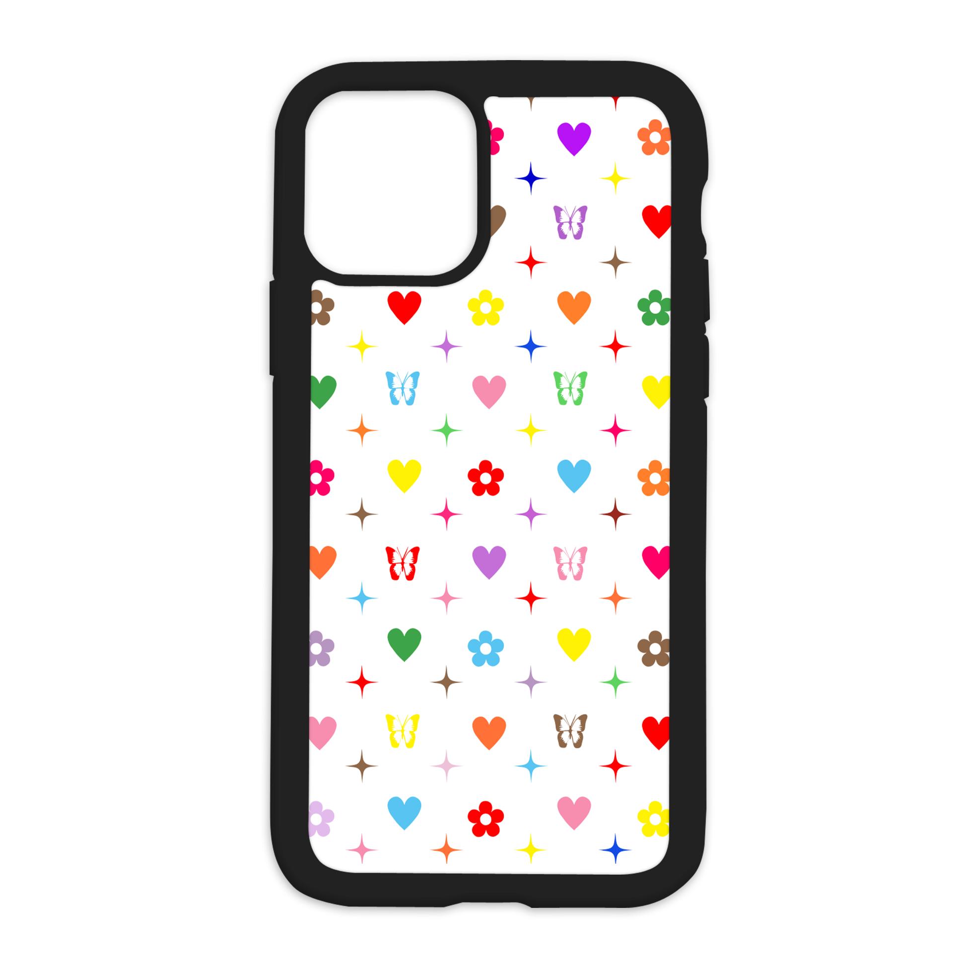 Colorful Vibez Design On Black Phone Case - 11 Pro Max