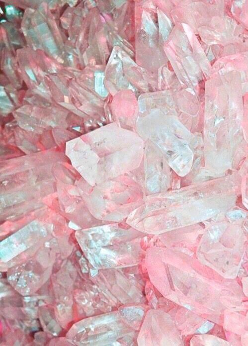 Pretty Pink Magical Healing Crystals Pink Aesthetic Crystals