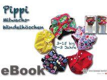 Pippi♡ eBook Windelhöschen Babywindel Schnitt Hose