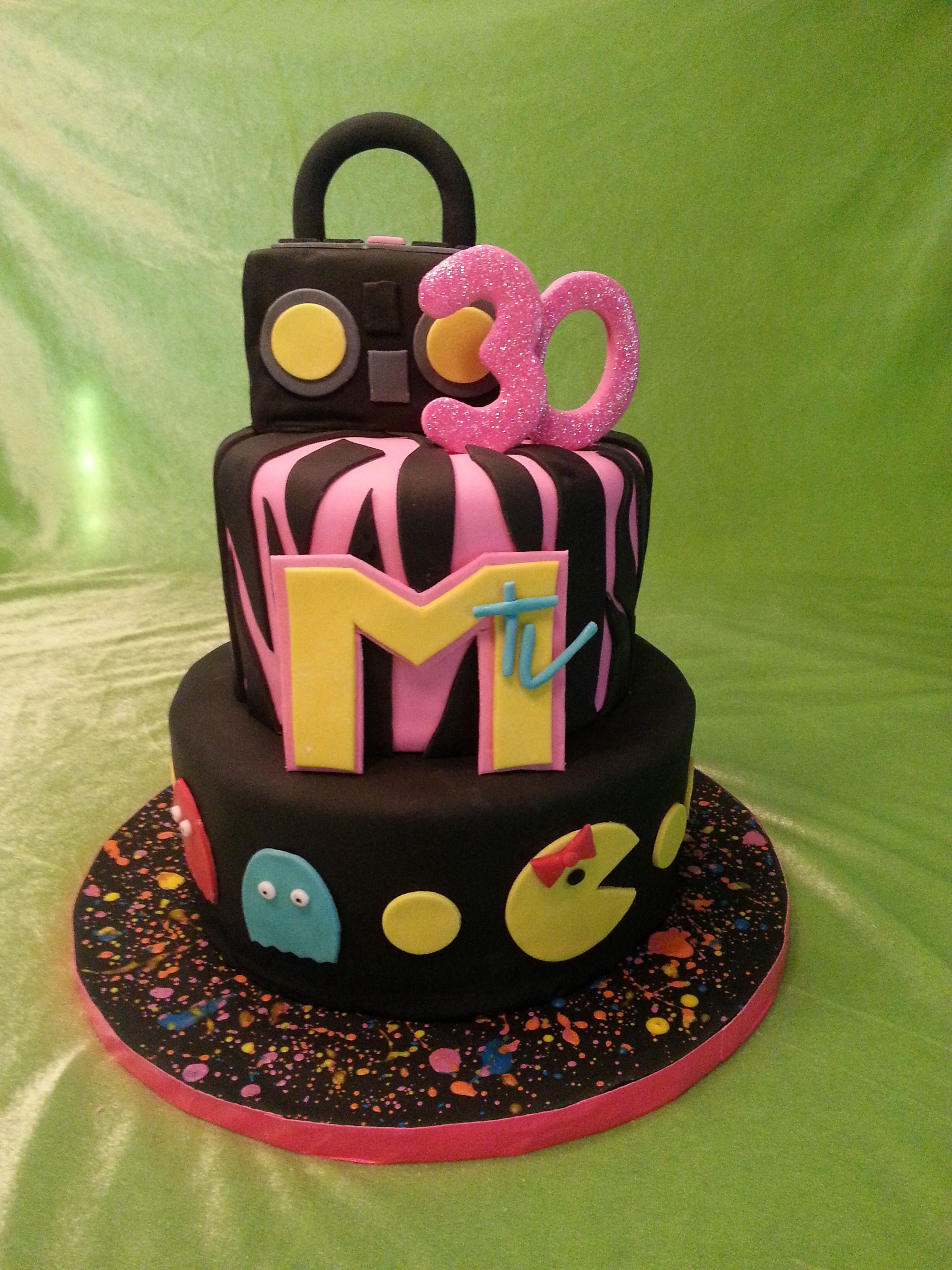 Magnificent 80S Themed Birthday Cake Cute Birthday Cakes Themed Birthday Funny Birthday Cards Online Barepcheapnameinfo