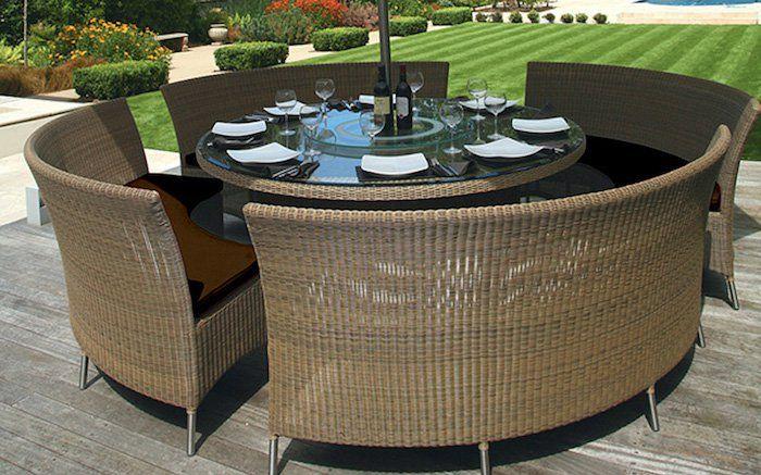 Salon de JARDIN tressé | Chic Home Ideas | Round outdoor ...