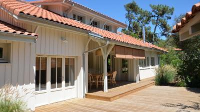 Cap Ferret, 44 Hectares, villa de style Cabane à deux pas du Mimbeau ...