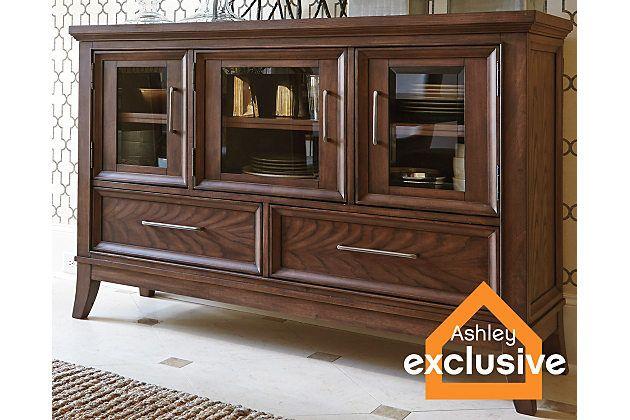 Medium Brown Mardinny Dining Room Server View 1 | Furniture ...