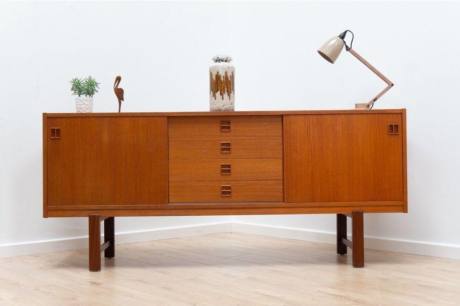 Small Credenza Ikea : Superb mid century swedish s vintage ikea teak sideboard