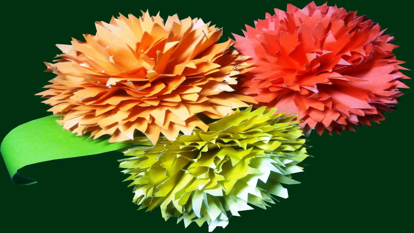 How to make color paper decorative wall hanging flower wall