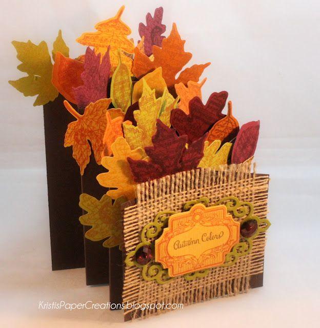 Kristi's Paper Creations: Autumn Colors, Autumn Leaves,cascade card