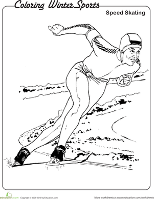 Olympic Winter Coloring Page - Free Olympics Coloring Pages ... | 388x301