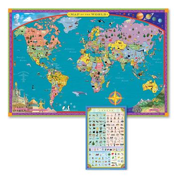World map 100 piece puzzle 1400 brainsight activities to world map kids geography educational poster art gumiabroncs Image collections