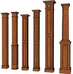 TRIM DETAIL U2013 Square Columns, Interior Wood Columns, Decorative Columns