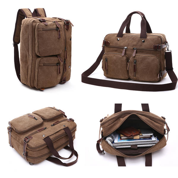 Ekphero® Men 3-convertible Handbag Vintage Crossbody Shoulder Bag Travel  Backpack - Banggood Mobile 44dfbc5b68