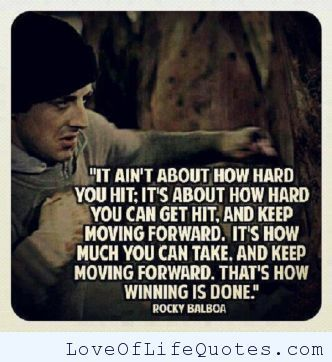 Pin By Love Of Life Quotes On Quotes Rocky Balboa Quotes Movie Quotes Quote Of The Week