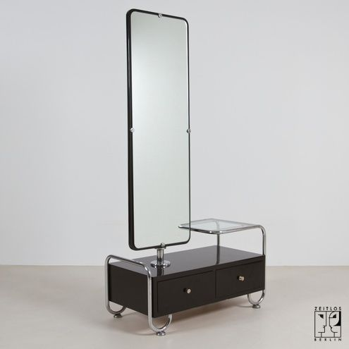 Dressing table with mirror in bauhaus design design for Dressing table long