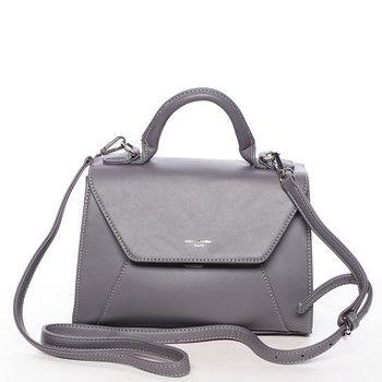 d2b95c90b9  DavidJones Elegantní a lehká tmavě šedá kabelka David Jones do ruky