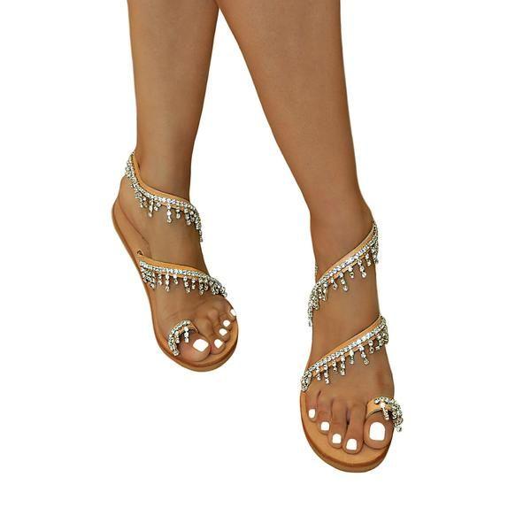 abda586fee28c Phyllis Swarovski Transparent - flat sandal | So many shoes and only ...