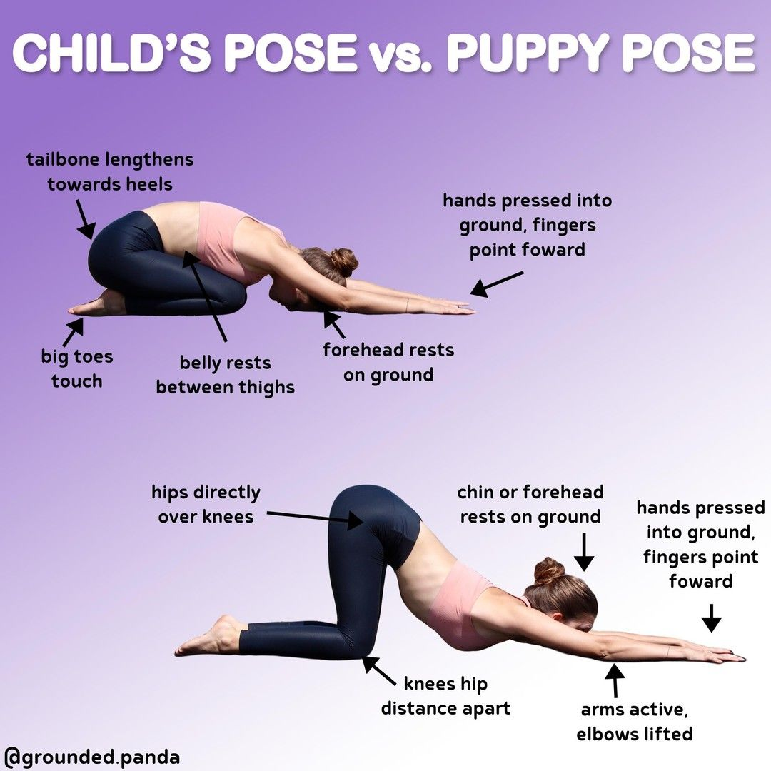 Child S Pose Vs Puppy Pose Follow Grounded Panda Follow Grounded Panda These Two Poses Can Looked Sim In 2020 Puppy Pose Yoga Puppy Pose Yoga For Toning