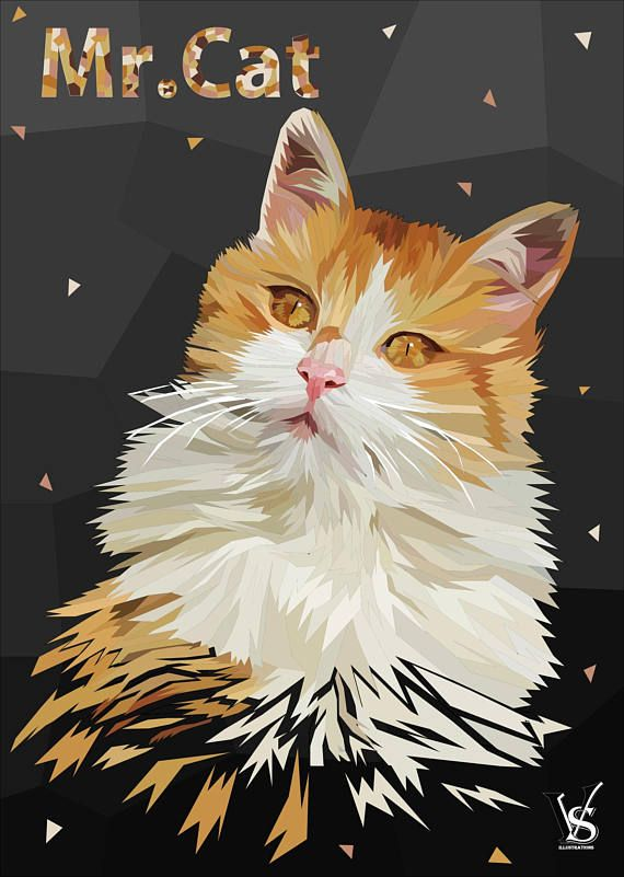 Custom Cat Portrait Digital, Custom Cat Drawing, Cat Loss Gifts, Custom Pet Portrait From Photo, Cat Gifts For Cat Lovers, Cat Illustration