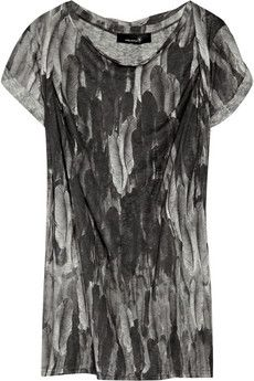 ISABEL MARANT  Walw feather-print linen top