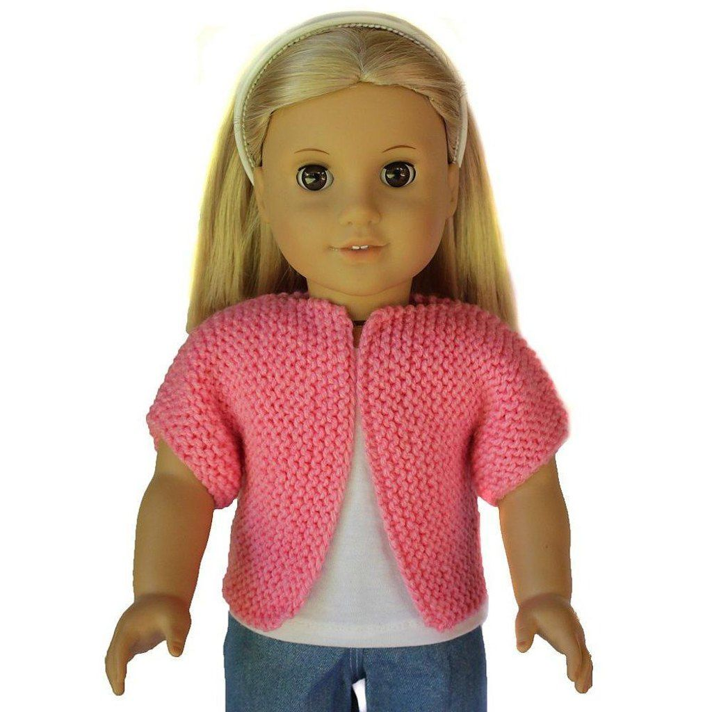 Beginner Knit Sweater for 18 inch Dolls Knitting pattern by Doll Tag ...