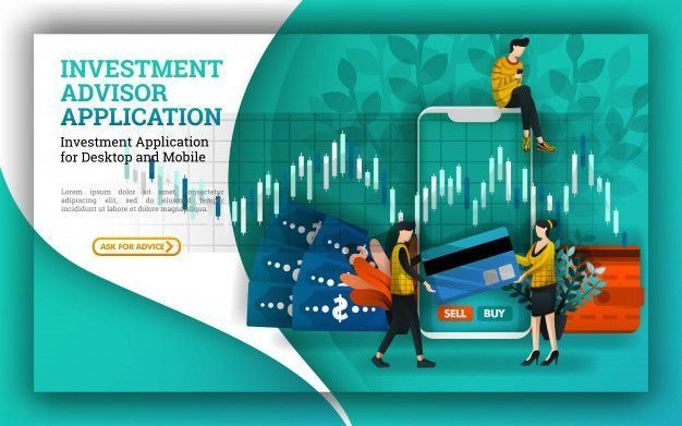 finance poster Illustration for investment and financial advisors apps  Premium Vector