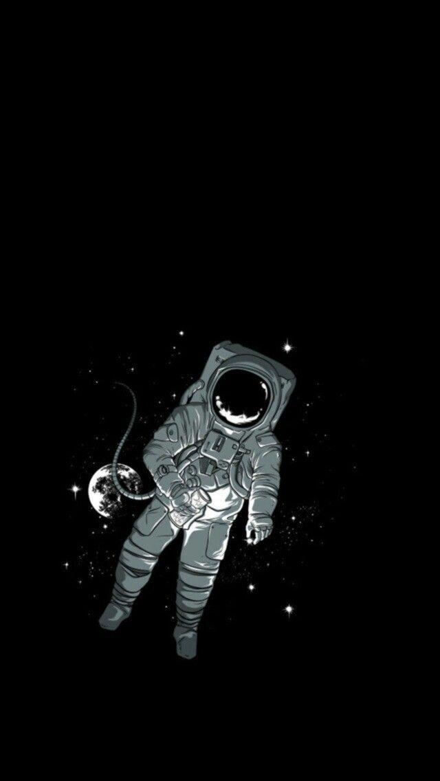 Pin On Fondos Cool black astronaut wallpaper