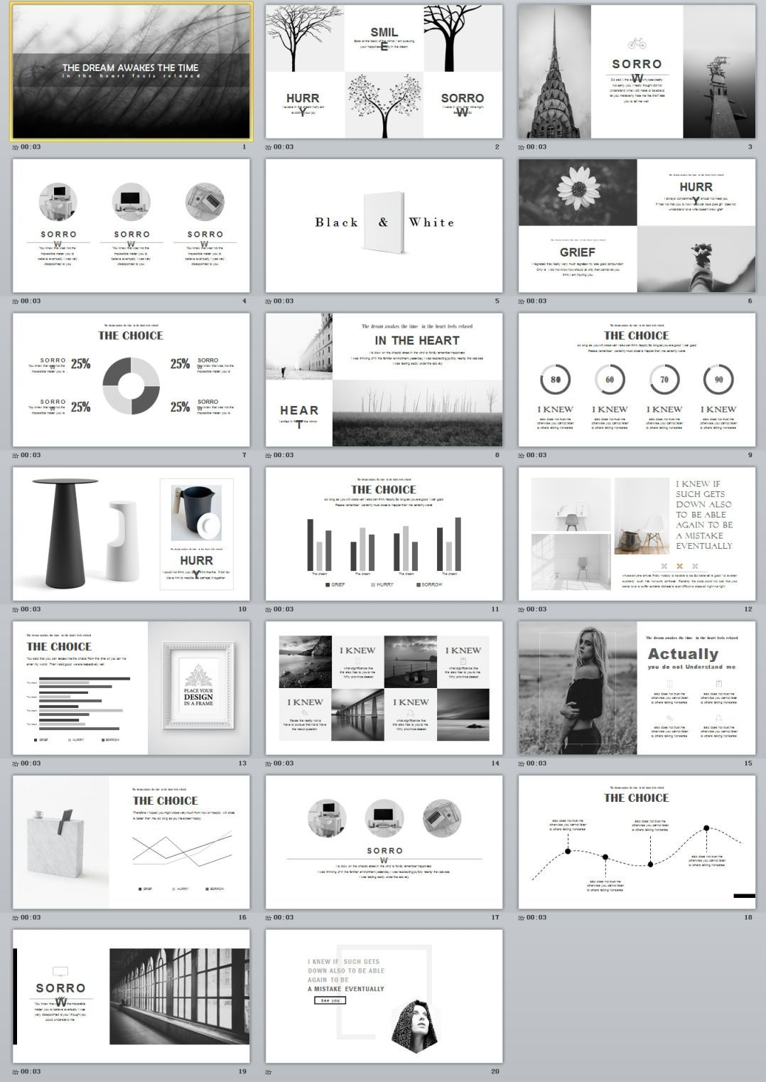 20 Gray Simple Powerpoint Template Premium Powerpoint