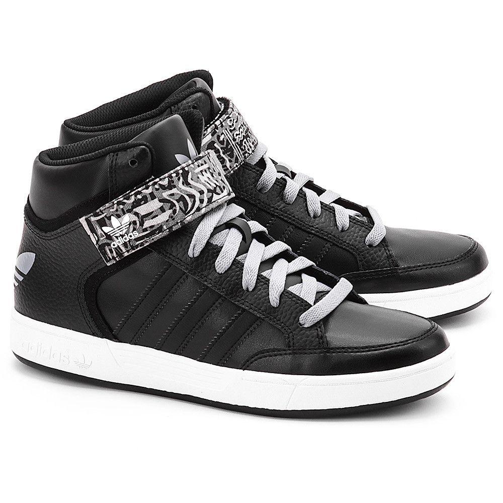 Adidas Varial Mid Czarne Ekoskorzane Sportowe Meskie Buty Mezczyzni Sportowe Mivo High Top Sneakers Top Sneakers Sneakers