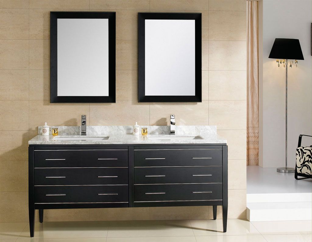 At Adornus Camile 60 Inch Modern Discount Double Sink Bathroom Vanity Black F