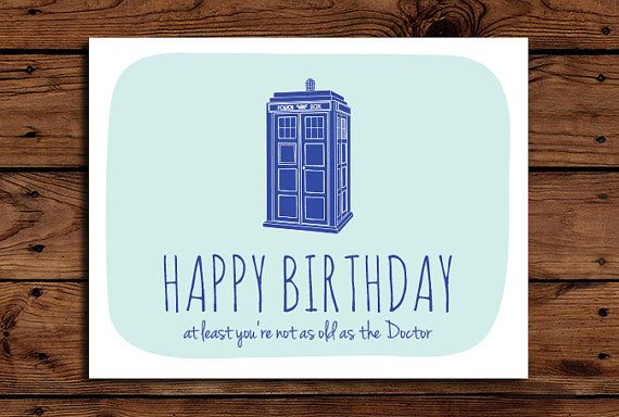 Doctor Who Birthday Card Printable Funny By Somebodylovedshop
