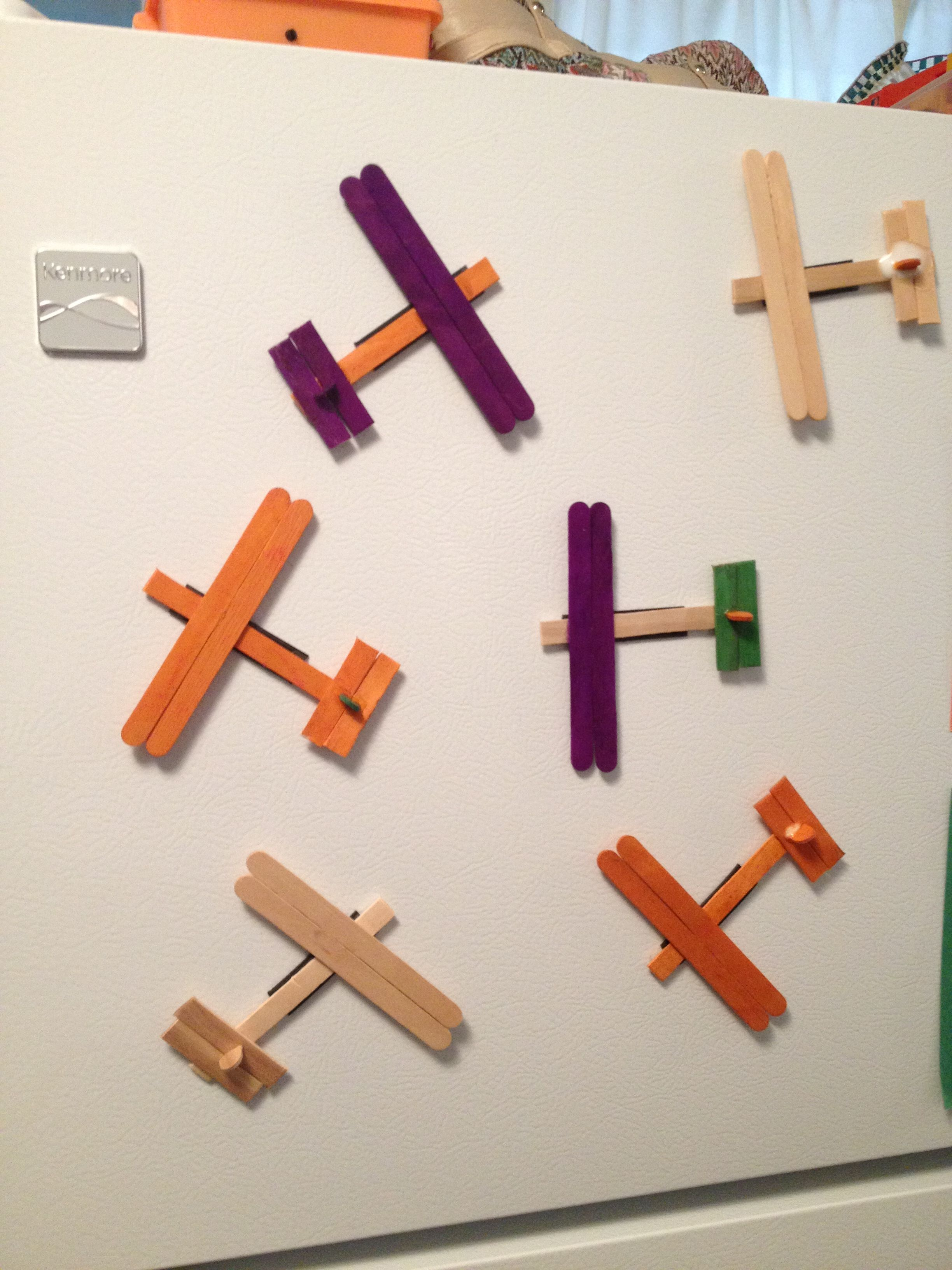 Popsicle Stick Airplane Magnets Preschool Craft Activity