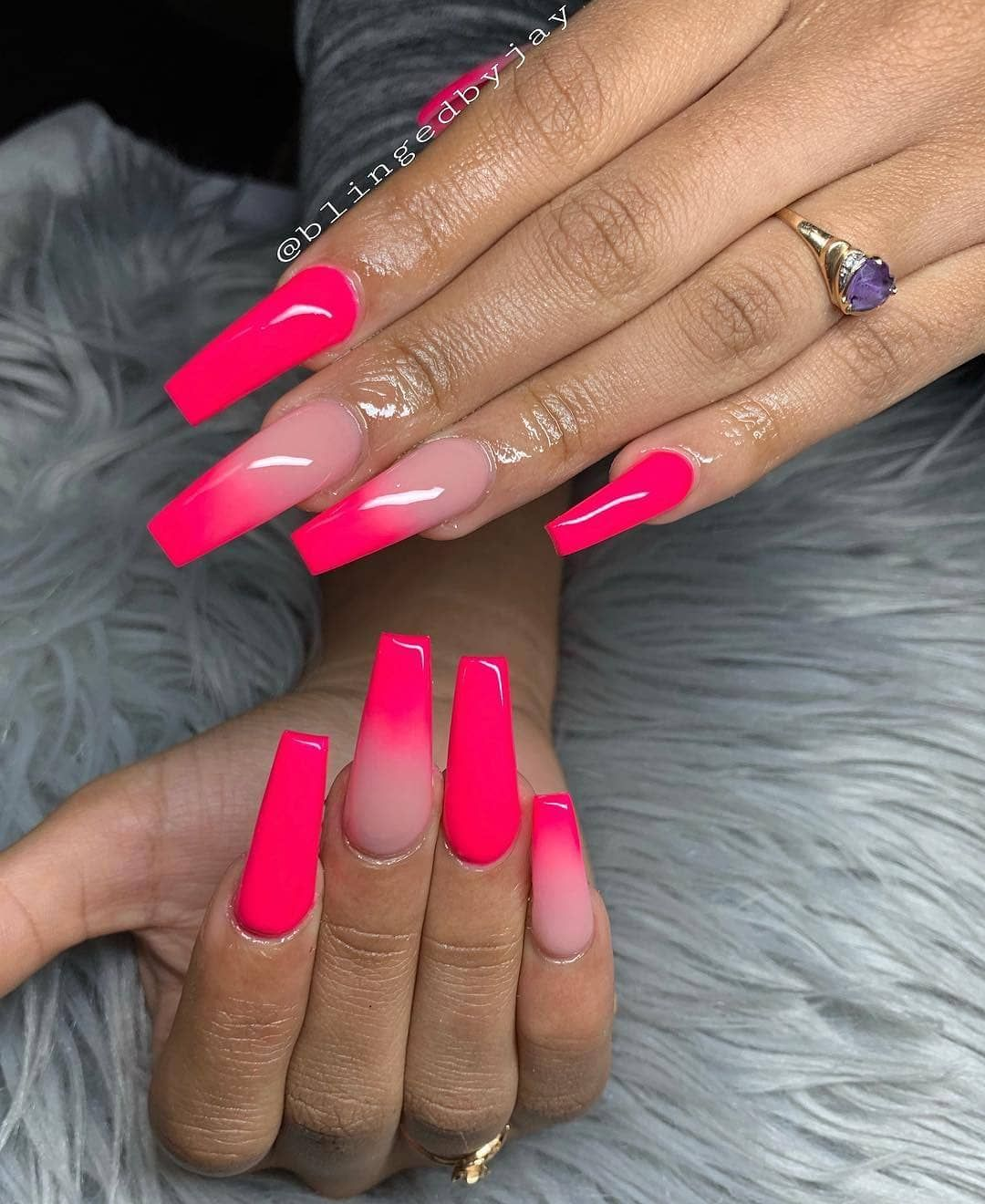 Nail Salon Near Me In 2020 Pink Ombre Nails Ombre Acrylic Nails Pink Acrylic Nails