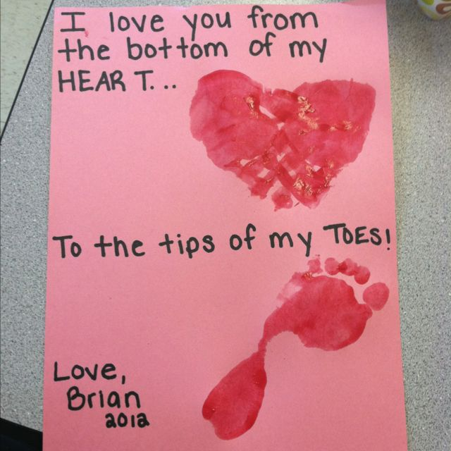 Valentine S Gift From Babies To Mommy And Daddy Valentine Gifts For Kids Valentine Day Crafts Cute Valentines Day Ideas