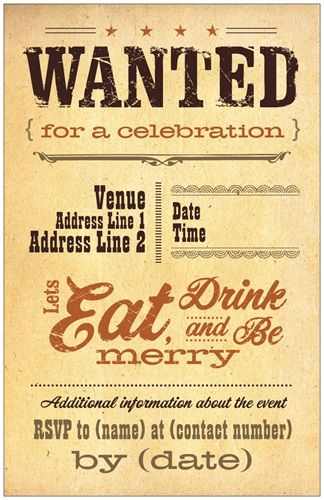 Vintage Tan Flat Invitations And Announcements Western