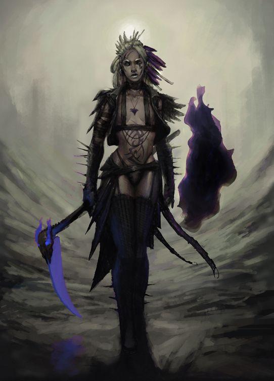 Shadar Kai 5e : shadar, Shadar-Kai, Swordmage, (err..., Scythemage), SirHanselot, Scythe, Armor, Clothes, Clothing, Fashion…, Shadar, Dungeons, Dragons, Characters,