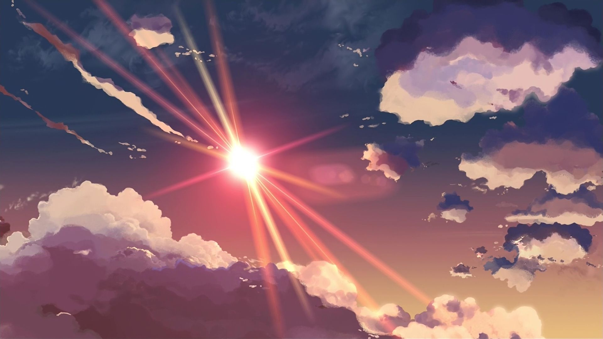 5 centimeters per second anime makoto shinkai skyscapes