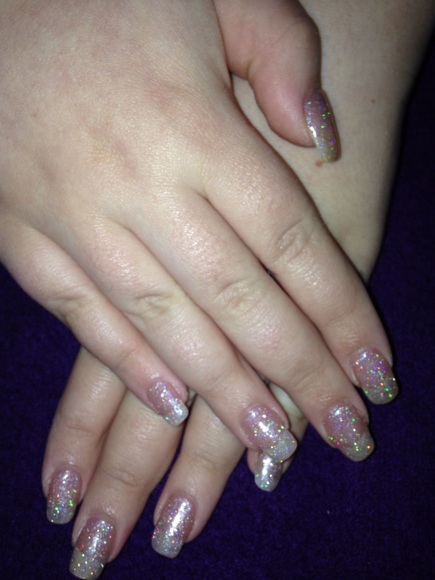 Full set of overlays with glittery gelish (With images